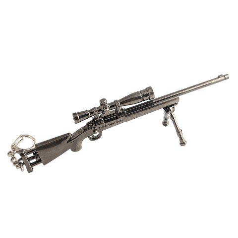 Game Theme M24 Sniper Rifle Shape Keychain - SILVER