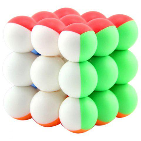 3 x 3 x 3 Round Bead Ball Magic Speed Cube for Kids - multicolor