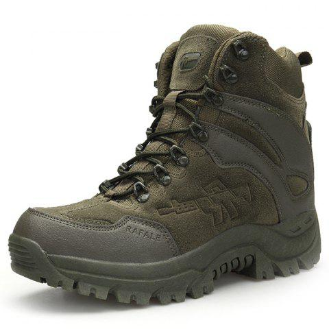 Outdoor Anti-slip Durable Warm Sports Boots for Men - ARMY GREEN 40