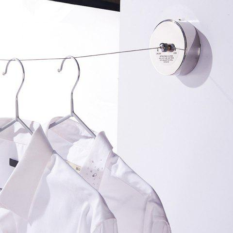 Retractable 304 Stainless Steel Wall-mounted 2.8m Clothesline - SILVER