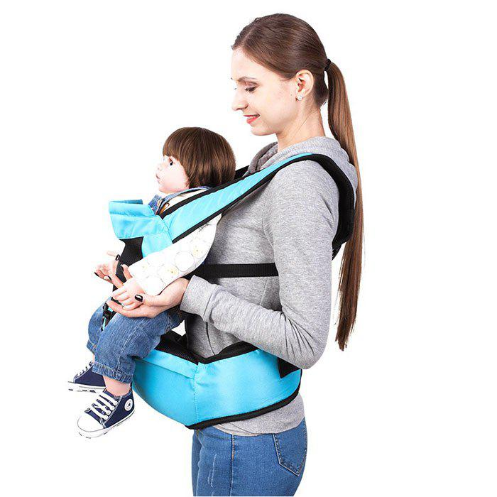 2-in-1 Universal Adjustable Baby Hipseat Carrier Ergonomic Waist Stool - DAY SKY BLUE