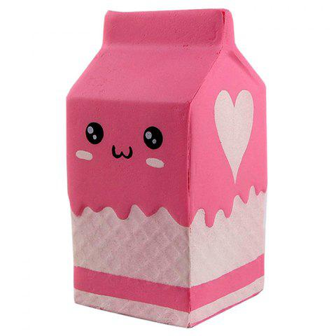 Creative PU Slow Rebound Yogurt Box Squishy Toys 1pc - CARNATION PINK