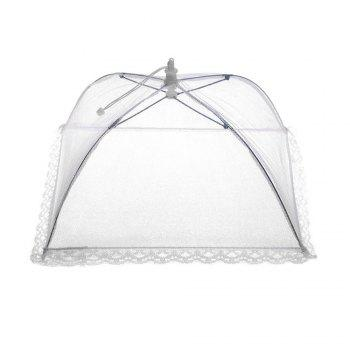 Mesh Folding Lightweight Fly-proof Dirt-resistant Food Tent Cover - WHITE