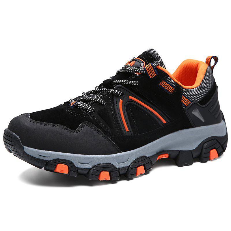 Trendy Anti-slip Shock-absorbing Durable Sports Shoes for Men - BLACK 40