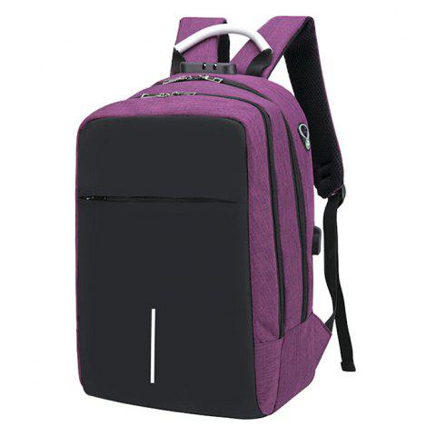 Large Capacity Burglar-proof Oxford Cloth Backpack with USB Charging Port - DARK CARNATION PINK