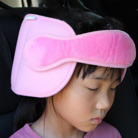 Baby Kids Car Security Seat Sleep Aid Head Support Headrest - PIG PINK