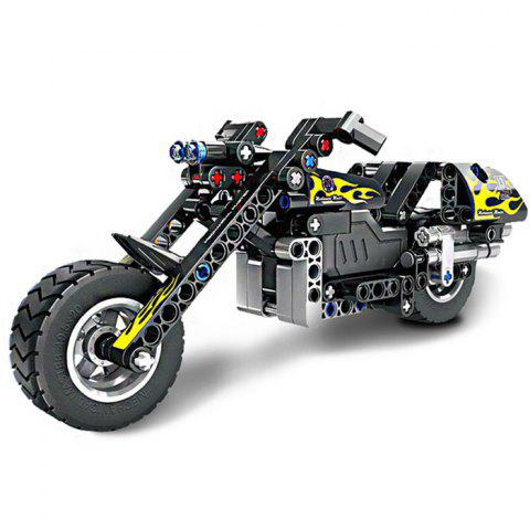 5801 Building Block Puzzle Games Motorcycle for Kids Learning Toys - NIGHT