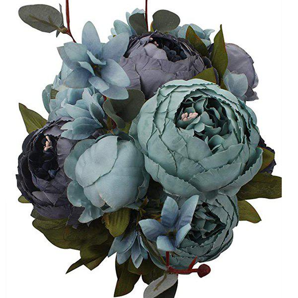 High-End European Style Core Peony Artificial Flower for Wedding Decoration and Home Decoration - BLUE JAY