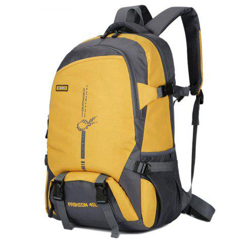 FLAMEHORSE Fashion Large-capacity Lightweight Outdoor Mountaineering Backpack - GOLDEN BROWN
