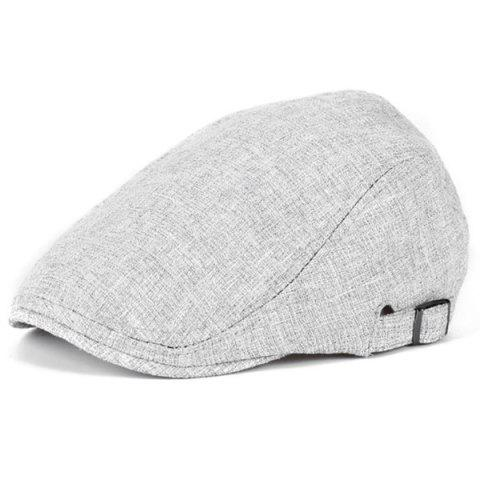 Outdoor Casual Breathable Linum Cap Beret - LIGHT GRAY