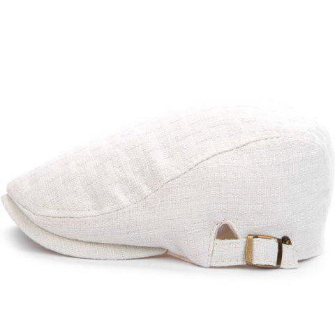 Outdoor Casual Breathable Linum Cap Beret - WHITE