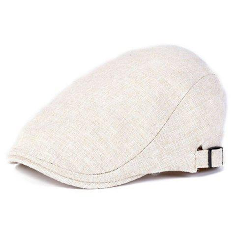 Outdoor Casual Breathable Linum Cap Beret - BEIGE