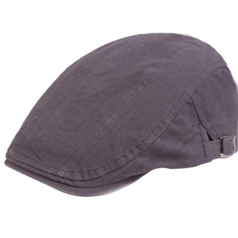 Outdoor Casual Breathable Cotton Visor Forward Hat Beret - GRAY