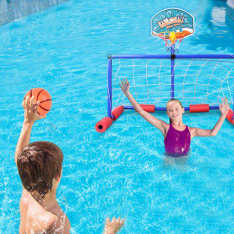 Kids Multi-sport Inflatable Floating Basketball and Soccer Goal Pool Set Water Toys - BLUE ORCHID