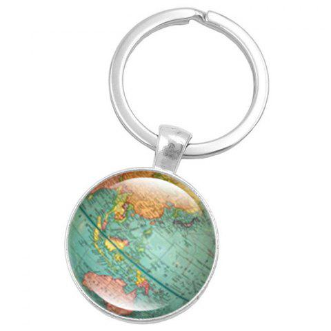 Map Style Key Chain Collection Gift Key Ring - multicolor A