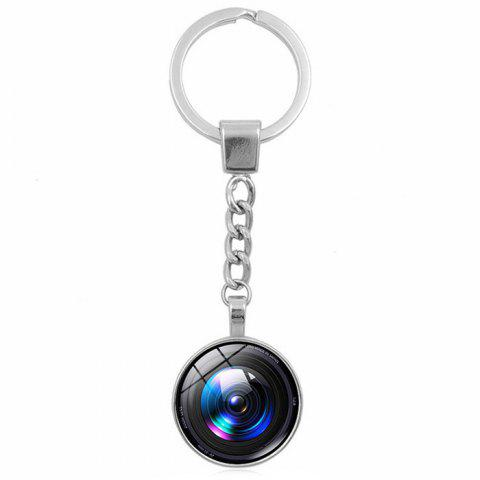 Camera Lens Style Key Chain Collection Gift Key Ring - multicolor A D