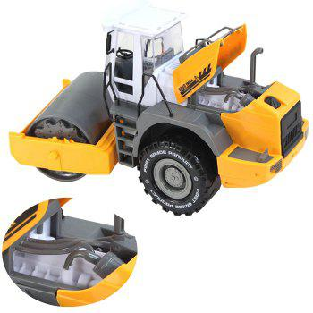 Kids Simulation Road Roller Truck Model Pull-back Vehicle Toy - RUBBER DUCKY YELLOW