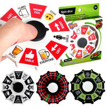 Creative Fidget Spinner Turntable Toy Game Party Props - RED