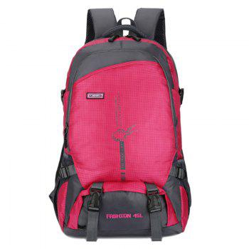 FLAMEHORSE Fashion Large-capacity Lightweight Outdoor Mountaineering Backpack - ROSE RED