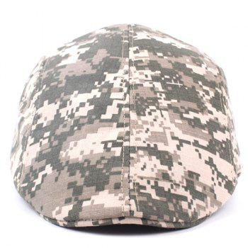 Outdoor Casual Camouflage Breathable Canvas Visor Forward Hat Cap Beret - DIGITAL DESERT CAMOUFLAGE