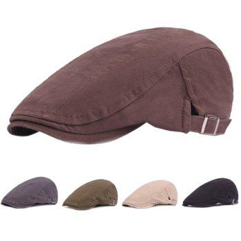 Outdoor Casual Breathable Cotton Visor Forward Hat Beret - COFFEE