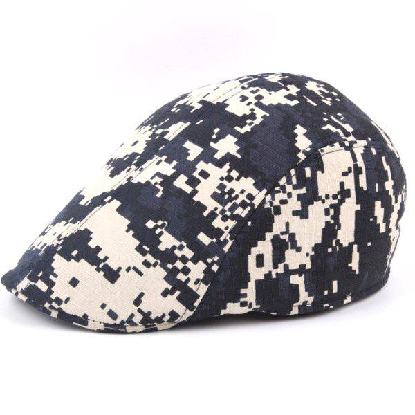 Outdoor Casual Camouflage Breathable Canvas Visor Forward Hat Cap Beret - CADETBLUE