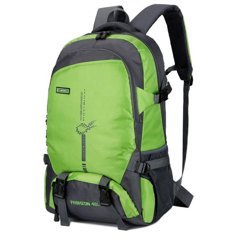 FLAMEHORSE Fashion Large-capacity Lightweight Outdoor Mountaineering Backpack - GREEN