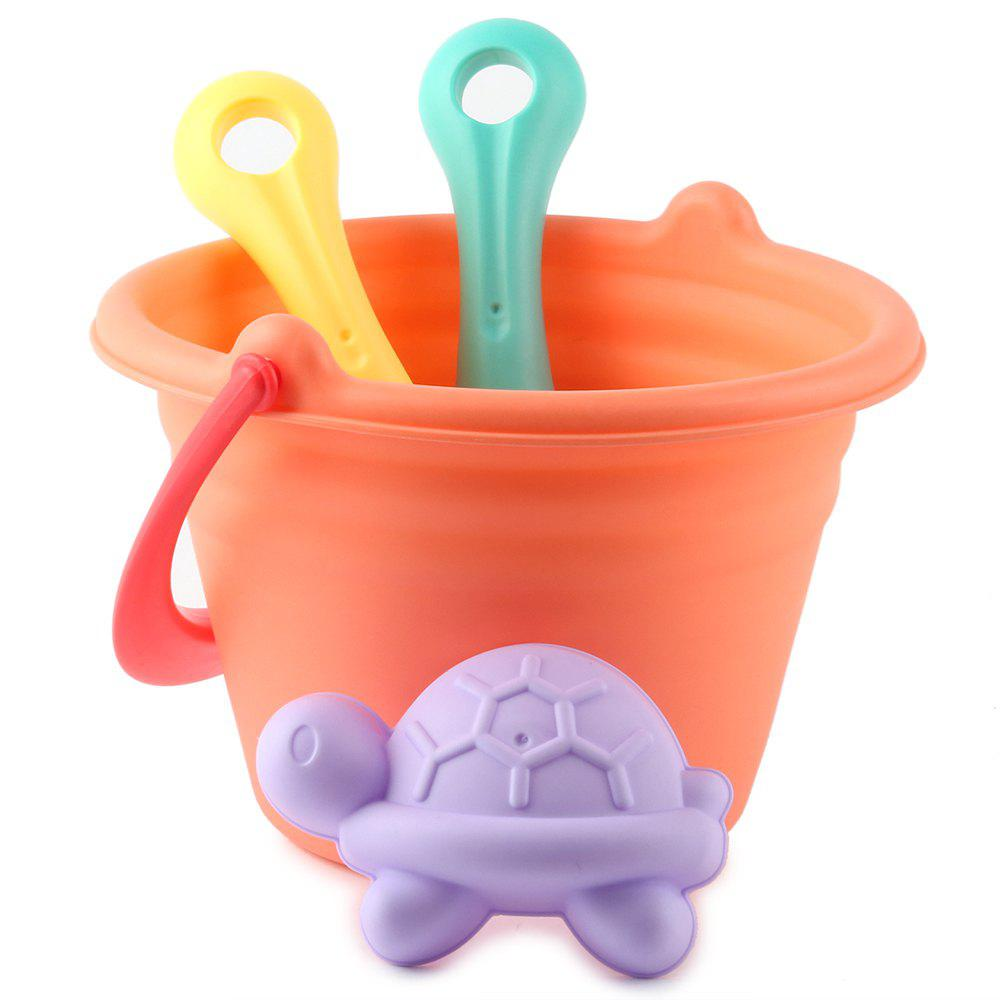 Soft Rubber Beach Sand Tools for Kids in Summer - multicolor A