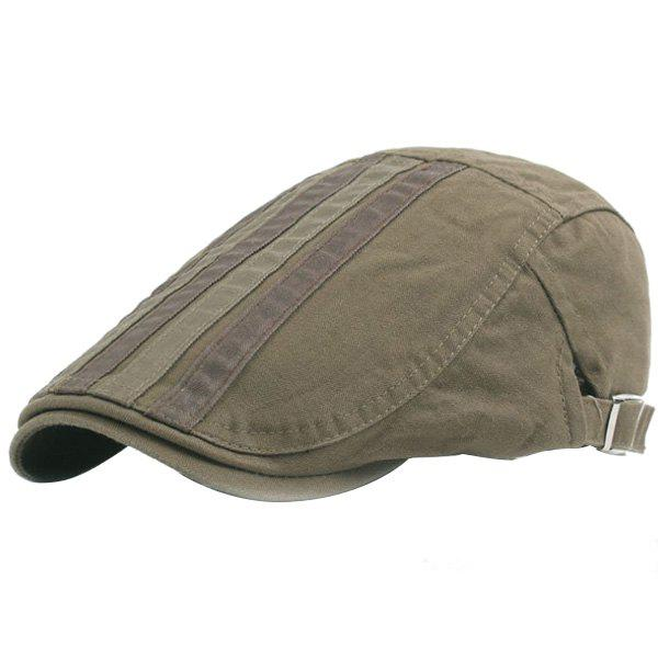 Outdoor Casual Breathable Cotton Visor Forward Hat Cap Beret for Men - ARMY GREEN