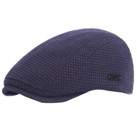 Outdoor Casual Thicken Breathable Cotton Cap Beret for Men - CADETBLUE