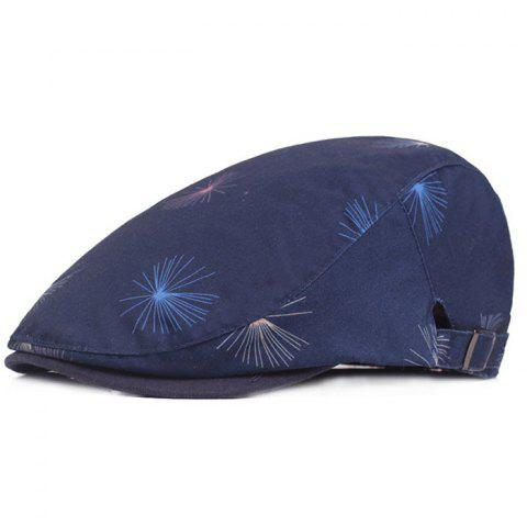 Cotton Cloth Male Female Cap Outdoor Travel Sun Hat Washed Beret - LAPIS BLUE
