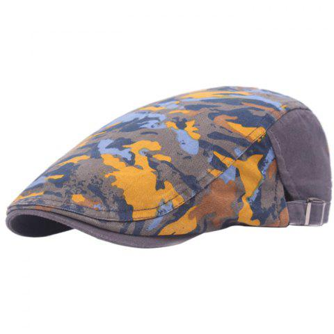 Casual Breathable Outdoor Cotton Visor Forward Hat Cap Beret - YELLOW