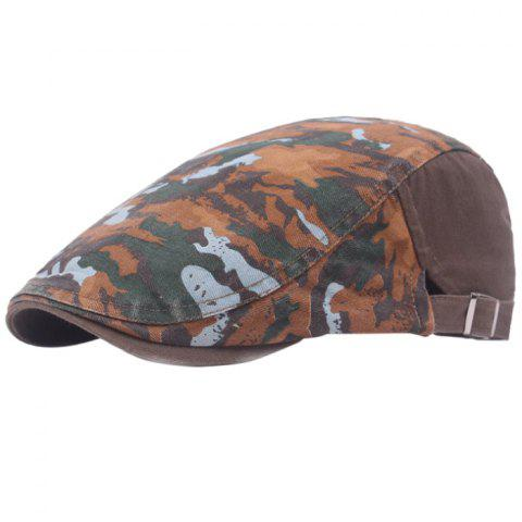 Casual Breathable Outdoor Cotton Visor Forward Hat Cap Beret - COFFEE