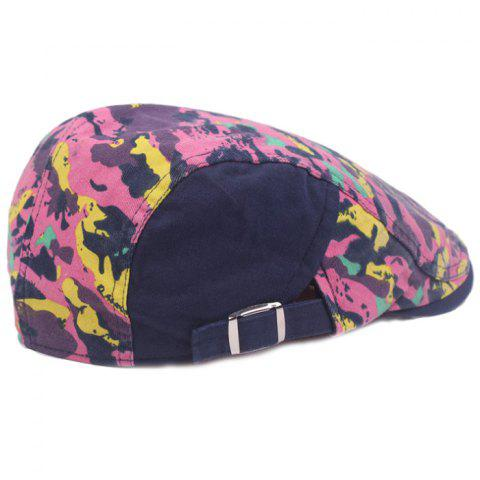 Casual Breathable Outdoor Cotton Visor Forward Hat Cap Beret - PINK
