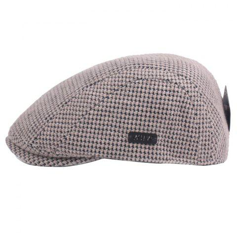 Outdoor Casual Thicken Breathable Cotton Cap Beret for Men - BEIGE