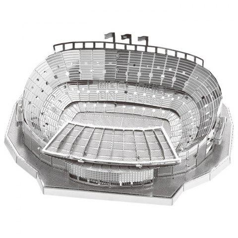 3D Metal Puzzle Football Field Assemble Model for Children - SILVER