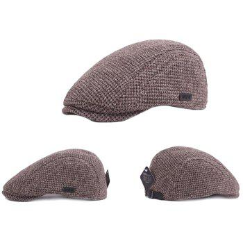 Outdoor Casual Thicken Breathable Cotton Cap Beret for Men - COFFEE