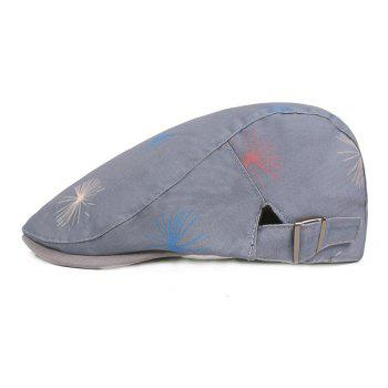Cotton Cloth Male Female Cap Outdoor Travel Sun Hat Washed Beret - BLUE GRAY
