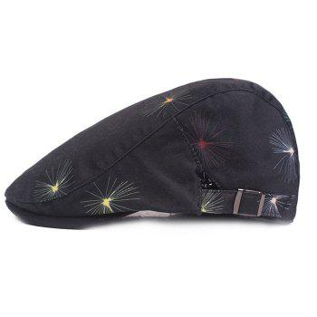 Cotton Cloth Male Female Cap Outdoor Travel Sun Hat Washed Beret - GRAY WOLF