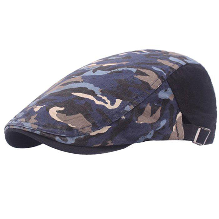 Casual Breathable Outdoor Cotton Visor Forward Hat Cap Beret - DEEP BLUE