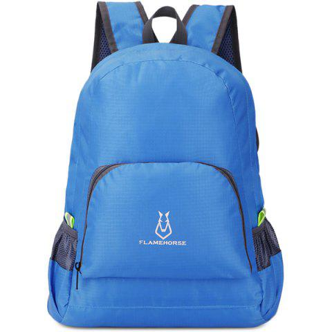 FLAMEHORSE Waterproof Backpack Hiking Bag Outdoor Sports - BLUE