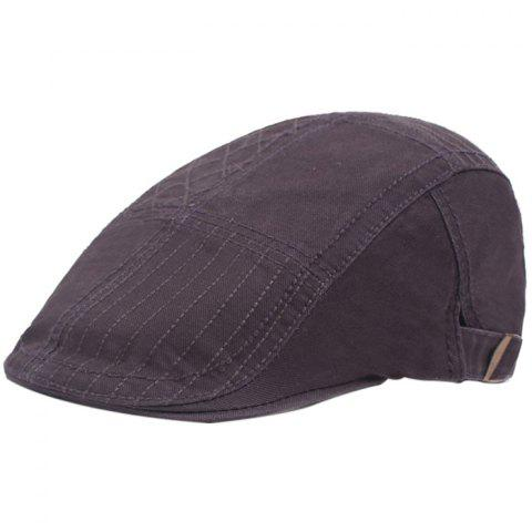 Casual Visor Forward Hat Cotton Breathable Outdoor Cap Beret - GRAY