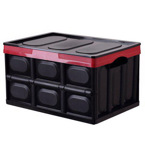 Multifunctional Foldable Plastic Storage Box for Home and Car Trunk Organizer - BLACK