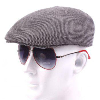 Casual Breathable Outdoor Hollow-out Visor Forward Hat Cap Beret - GRAY