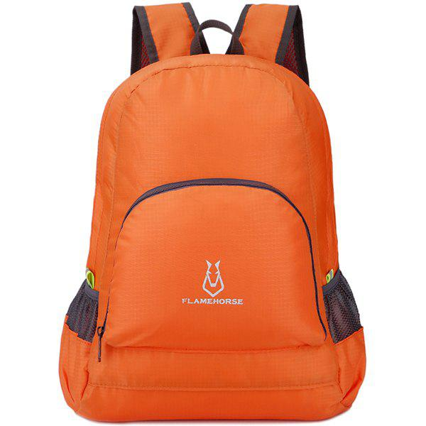 FLAMEHORSE Waterproof Backpack Hiking Bag Outdoor Sports - DARK ORANGE