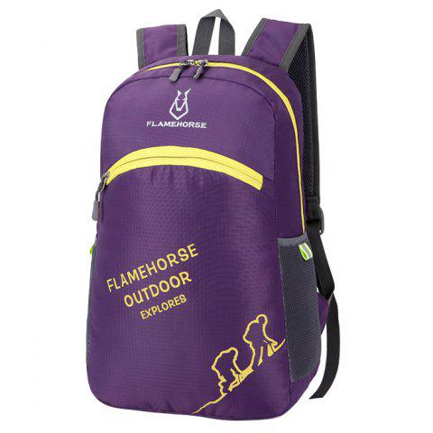 FLAMEHORSE K39 Nylon Backpack - PURPLE JAM