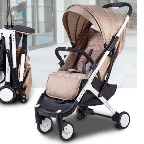 YOYAplus A09 Foldable Baby Stroller for 0 - 36 Month Kid - CHAMPAGNE GOLD