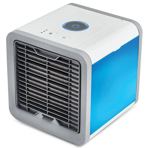 USB Charge Type Mini Fan Colorful Lamp Portable Air Conditioner - WHITE