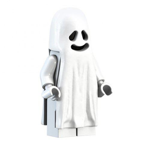 Luminous Building Blocks Assembled Doll Ornaments for Decorating - WHITE