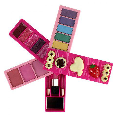 22243 - 1BA Fashion Makeup Set Realistic Toy for Girl - ROSE RED